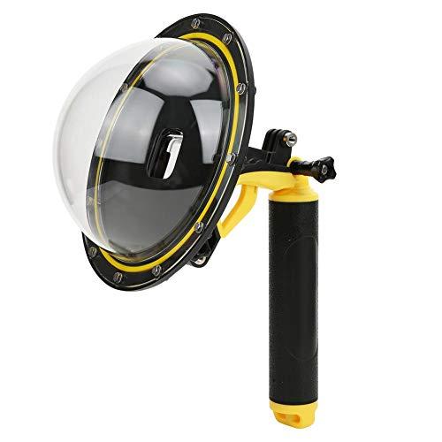 Dome-poort voor GoPro Hero 8, GP-DMP-T08 180 ° groothoek Fisheye-bol Snorkelen Waterdichte duikkap Dome-poort Drijvende handgreep
