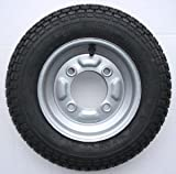 leisure MART 3.50 x 8 inch trailer wheel and tyre with 4 ply tyre and 115mm PCD. To fit these trailers only Erde 102 and Maypole MP6810 Pt no. LMX777