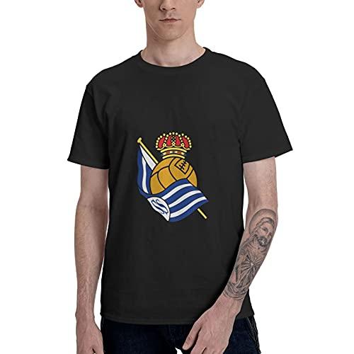 Real Sociedad Vingtage - Camiseta de manga corta para hombre