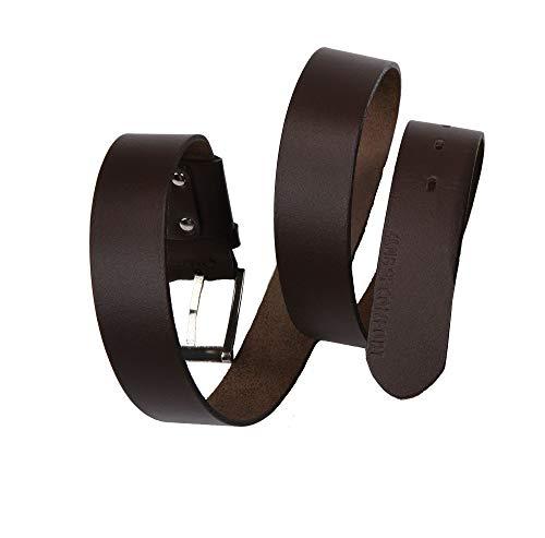 Ceinture élastique en cuir pour homme de la marque cLUB oF cOMFORT (50) noir ou marron - Marron - 100