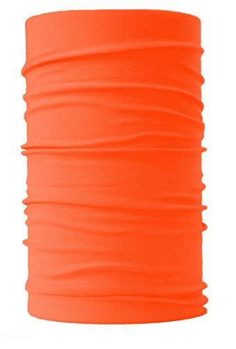HeadLOOP Multifunktionstuch NEON Lauftuch Schal Halstuch Kopftuch Mikrofaser (Orange-Neon)