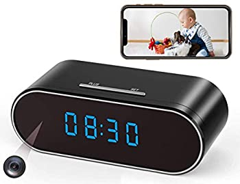 Hidden Spy Camera Clock WiFi Wireless 1080P Nanny Cam and Security Cameras with Motion Detection and Night Vision IMINI88 Perfect 140 Angle Camera Clock for Home Office