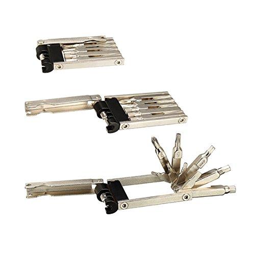 MXBIN Kit de Destornilladores de Herramienta de reparación de Bicicletas múltiples 10...