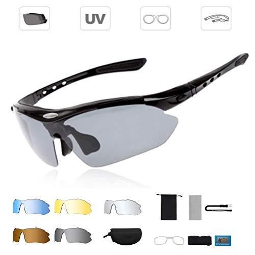 ARTOCT Sportbrille, Fahrradbrille Herren und Damen Radsportbrille Sonnenbrille Erwachsene Sport Radbrille Polarisiert Windschutz Brille Motorradbrille Rahmen UV400 Schutz