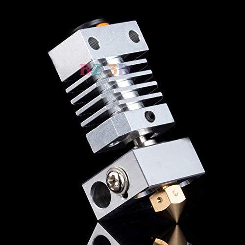 BZ 3D CR10 Disipador térmico Kit de actualización de metal para CR-10 CR-10S CR-10 S4, S5 Ender 3 / Pro Ender 5 Impresora 3D Hotend Titanium Heat Breaker 1.75 / 0.4mm Boquilla de latón MK8 (Tipo 2)