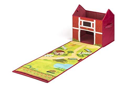 Miniland- Farm Box: Baúl de almacenaje en Forma de Granja Convertible (97097)