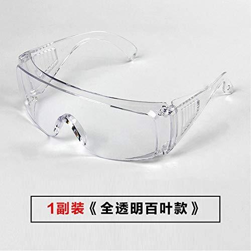 Brillenbril, anti-condens, anti-condens, anti-condens, anti-krasbril, stofbescherming, voor mannen en vrouwen Obturateur Entièrement Transparent