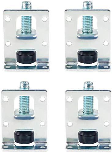 DOITOOL 4 STÜCKE Möbelfüße Verstellbar Edelstahl möbelfüße höhenverstellbare füsse für Möbel, Tisch, Schränke, Werkbank, Regale