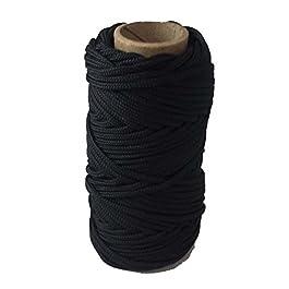 T.w. Evans Cordage Co. 12–636–100# 36100'Noir et nylon tressé goudronnée Leurre Ligne