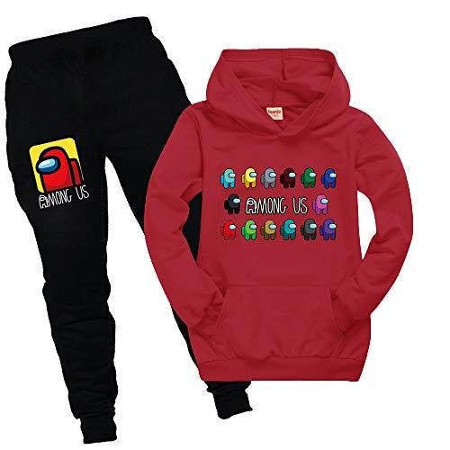 pantalones cortos Traje de manga corta para ni/ños ropa deportiva transpirable unisex Baonmy Among Us