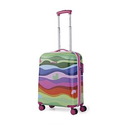 AGATHA RUIZ DE LA PRADA - Trolley de cabina para mujer en ABS Olas, Color Fucsia