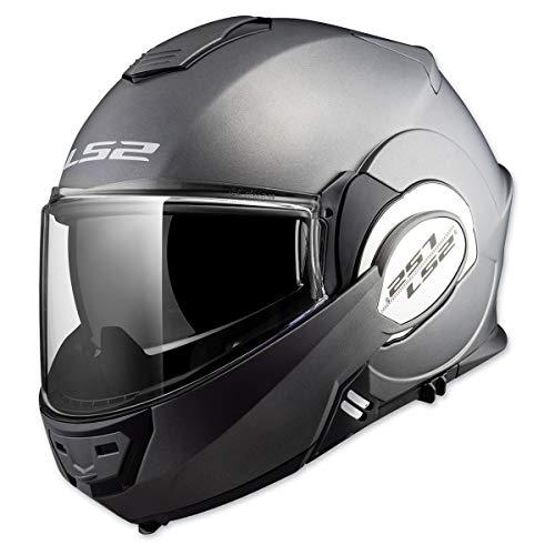 LS2 Helmets Modular Valiant Helmet (Matte Titanium - X-Small)
