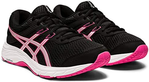 ASICS Women s Gel Contend 6 Running Shoes 8M Black Pink GLO product image