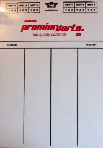 Premierdarts Darts Markerboard/Scoreboard inkl. Stift und Schwamm (60 x 30 cm / X01 Games)