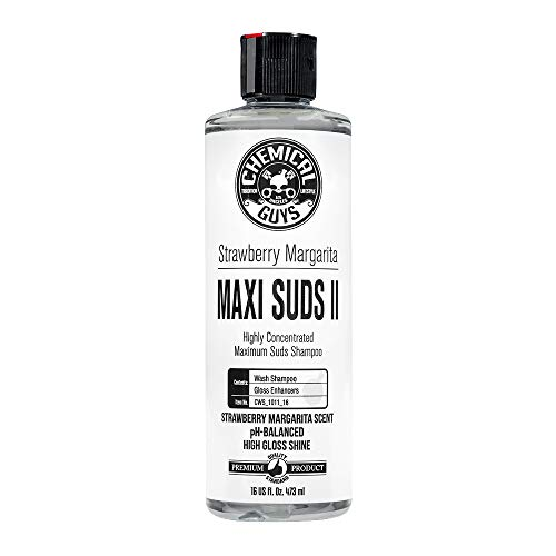 Chemical Guys CWS_1011_16 Maxi-Suds II Foaming Car Wash Soap (Works with Foam Cannons, Foam Guns or Bucket Washes), 16 oz, Strawberry Margarita Scent