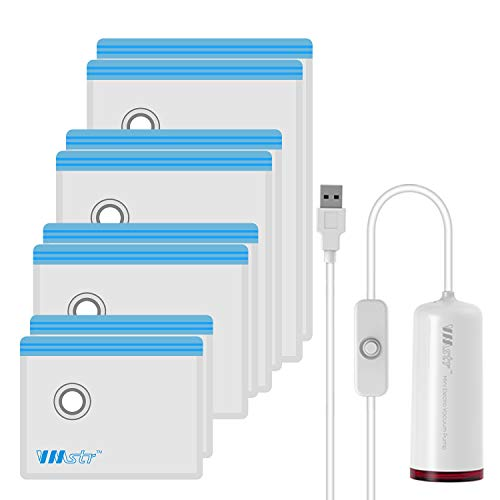 VMSTR Travel Vacuum Storage Bags with USB Electric Pump, Medium Small Space Saver Bags for Travel (8 PCS)