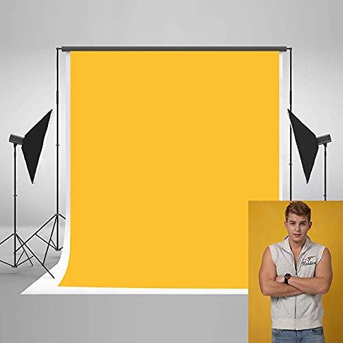 KateHome PHOTOSTUDIOS 1,5x2,2m(5x7ft) Fondo Amarillo Fondo de Foto de Personaje Fondos de Estudio de fotografía Profesional