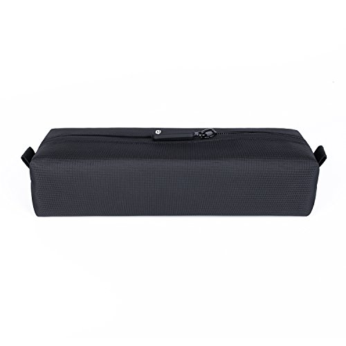 Comfyable Small Toiletry Bag for Men, Water-Resistant Mini Toiletry Bag, Pencil Case, Essentials Bag, Dopp Kit Bag for Electronics, Tech, Gym, Black