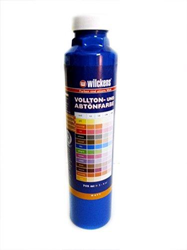Qualitäts Abtoenfarbe - Volltonfarbe / 750 ml/matt - 14 Farben zur Auswahl (Blau)