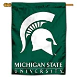 College Flags & Banners Co. Michigan State University Spartans House Flag