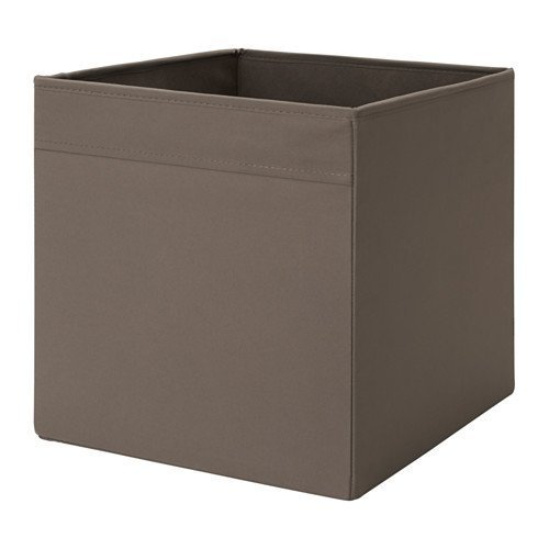 Unbekannt IKEA Regalfach DRÖNA Aufbewahrungsbox Regaleinsatz in 33x38x33 cm (BxTxH) - Dunkelbraun - passend für Expedit, Besta, etc.