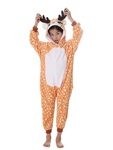 Niño Pijamas de Animales Cosplay Traje Onesies Homewear Ropa de Noche Ropa de Dormir Unisex Halloween Navidad (Sin Zapatos)