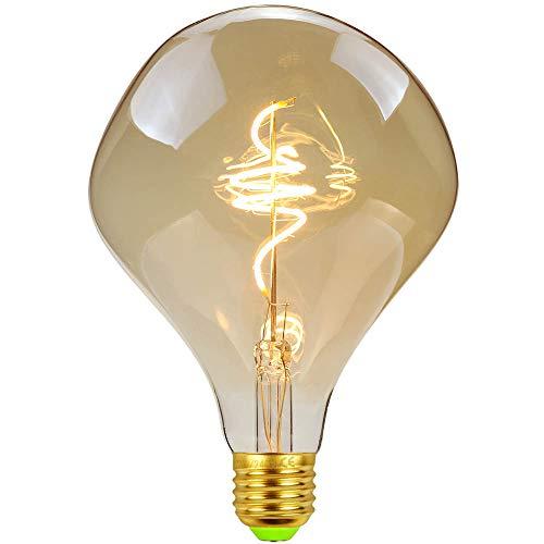 TIANFAN Vintage LED-Lampen 4W dimmbar unregelmäßig geformte 220 / 240V Edison Schraube E27 Basis Spezialität dekorative antike Glühbirne (ALIEN)