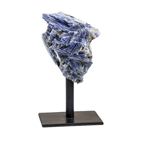 Rock Paradise Blue Kyanite Rough Stone on Metal Stand - Healing Crystals and Stones - Home Décor Accents - Chakra Stones