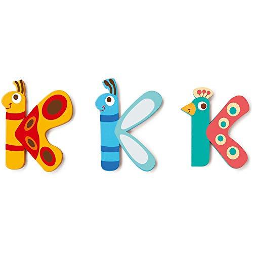 SCRATCH Alle andere meubels, decoratie en opslag voor kinderen SCRATCHScratch Deco: Wooden Letter 'K', 3 asstd, stijlen, 3 lijm included, on Card, meerkleurig (meer dan een)