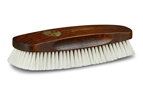 Langer & Messmer Exclusivo cepillo lustrador hecho de pelo de cabra blanco...