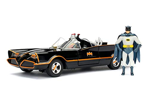 JADA TOYS 1/24スケール バットマン BATMAN バットモービル クラシックTVシリーズ バットマンフィギュア付き 完成品ダイキャストミニカー JADA98259