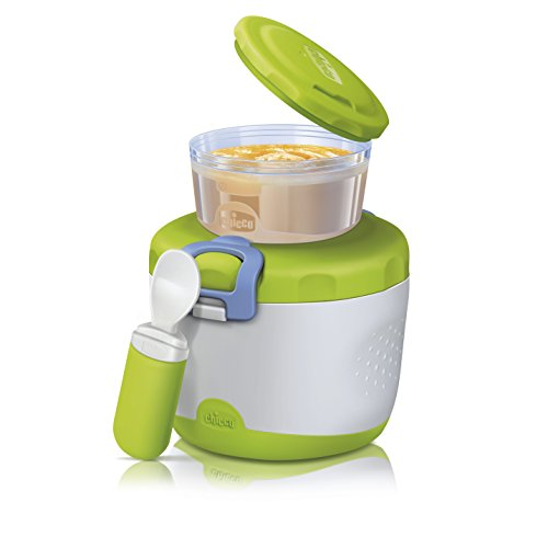Chicco Thermos PortaPappa System Easy Meal, 6m+, Verde