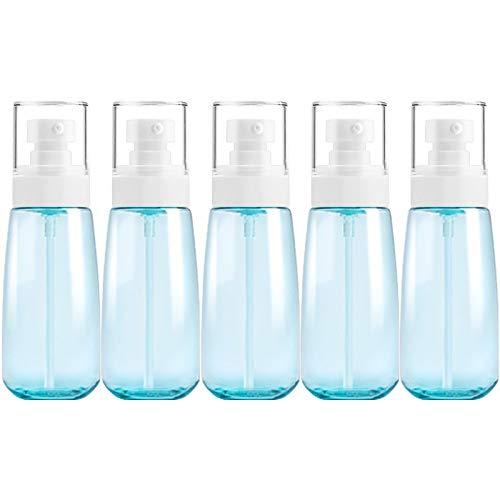PAN-FR Bouteilles cosmétiques, 5 PCS Bouteilles en Plastique de Voyage, 100ml Bouteilles de Rechange (Couleur : Blue)