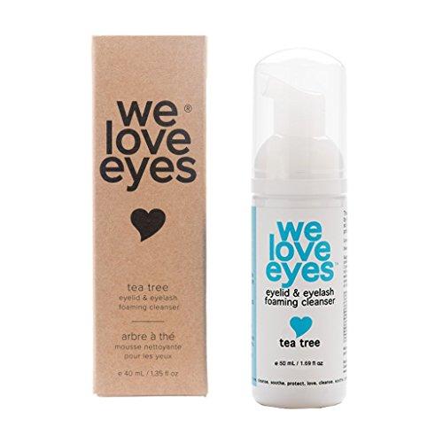 Vegan Tea Tree Eyelid Eyelash Foaming Cleanser - We Love Eyes