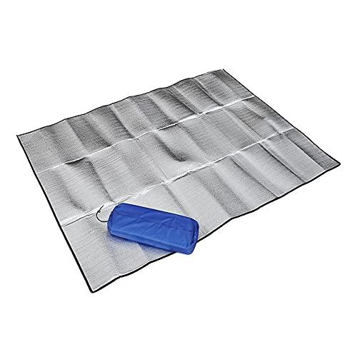 Alu Isomatte Schaummatten Schlafmatte, MOPOIN Wasserdicht Thermo Sitzkissen, Isoliermatte Faltbare Zeltmatte für Camping Outdoor Wandern und Stadion 200x150cm