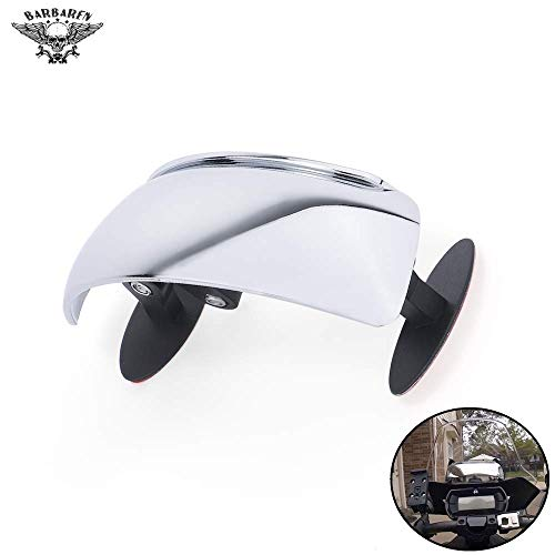 BarBaren Motorcycle Universal Mirrors 180 Degree Blind Spot Mirror for Motorcycles, ATV/UTVs, Scooters, Cars, Aircrafts and Boats