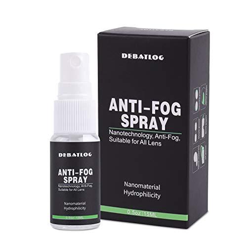 DEBATLOG Anti-Fog Spray for Glasses   Professional   Work on Eyeglass,Mask, Sports Goggles, Swim Goggles, Bathroom Mirror, Humid Environment,Nanotechnology, Alcohol-Free  Durable Anti-Fog