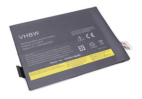 vhbw Li-ION Batterie 6300mAh (3.7V) pour Netbook Pad Tablette Lenovo IdeaPad A10-70, A7600-F, S2110, S2110AF comme L11C2P31, L12D2P31.
