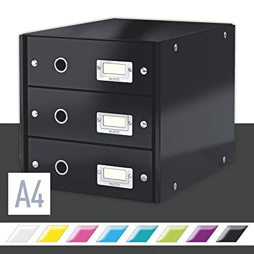 LEITZ CLICK & STORE cassettiera 3 cassetti - Nero - 60480095