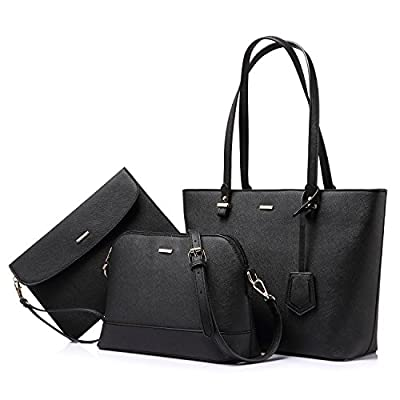 Handbags for Women Tote Bag Shoulder Bags Top Handle Satchel Purse Set Designer Purses 3PCS PU Leather Stand Gift