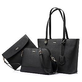 LOVEVOOK Sac à Main Femme Sac à épaule Sac à bandoulière femme Grand sac fourre-tout pour femme pour voyage Collège…