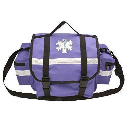 First Aid Responder EMS Emergency Medical Trauma Bag Paramedics, Firefighters, Ambulance, EMT, Home Health Aides (Purple)