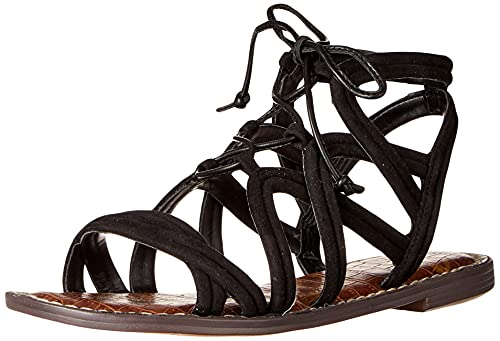 Sam Edelman Women's Gasha Flat Sandal, Black, 7 UK