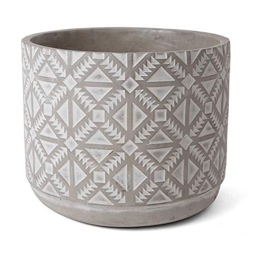 Rutledge & King Concrete Planter - Indoor and Outdoor Plant Pot - Modern Cement Planter - Geometric Planter Flower Pot - Succulent Pot (Large)