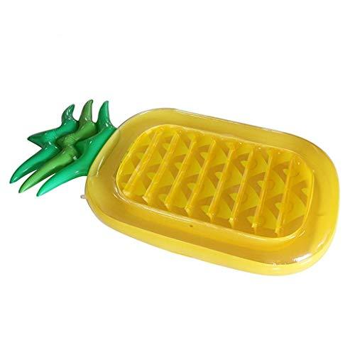 TYUXINSD Licht Schwimmbad schwimmendes Bett PVC aufblasbare Ananas schwimmende Reihe Wasser Freizeit Unterhaltung Schlauchbett Dickes Floating Bett 180x90x20cm Luftbetten & Schlauchbaum