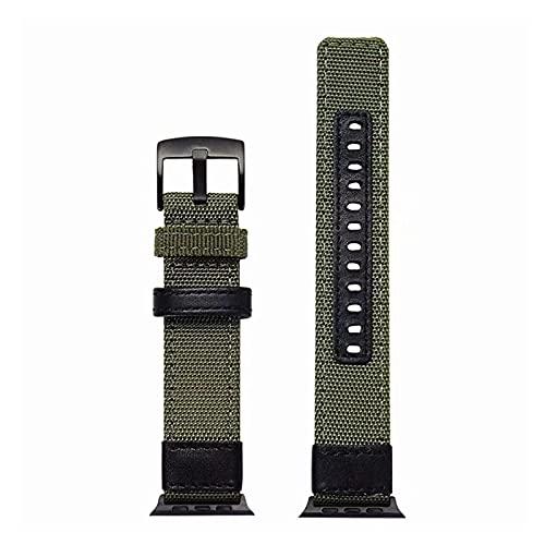 Correa de Cuero, Compatible con una Variedad de Correas 40 mm 44 mm 42 mm 38 mm Correa de Pulsera Trenzada de Lona, Adecuada para la Serie 6 5 4 3 2 1