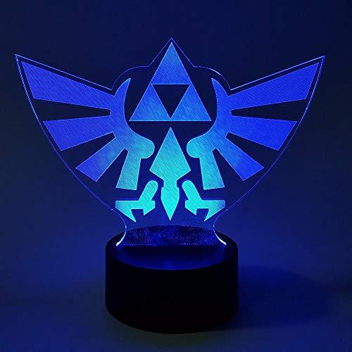 Lámparas infantiles Ilusión óptica LED 3D luz nocturna RGB cambio de color enlace acción animación de personajes juego aliento salvaje