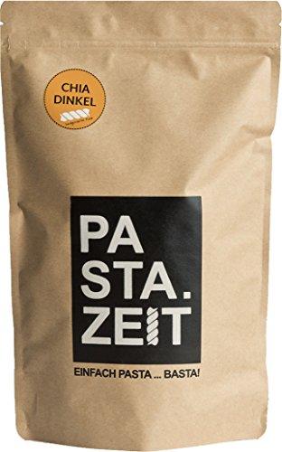 Pastazeit Bio Chia Dinkel Fusilli, Bester Bio Chia, Vitaminreich, Hochwertige Kohlenhydrate, Proteinreiche Nudeln, Handgemacht, Vegan, Weizenfrei, in 7 Minuten al dente (3x300g)