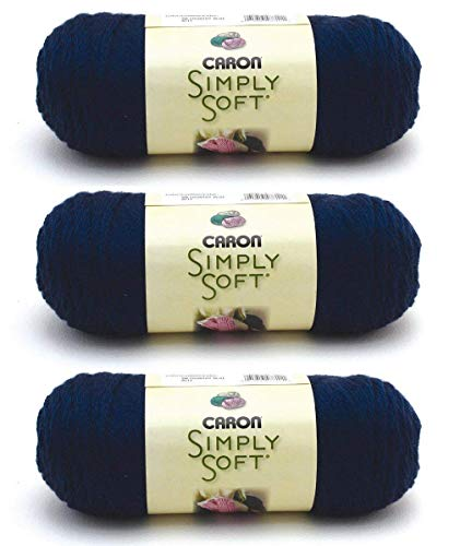 Caron CSS5610 Simply Soft-Pack of 3 Balls-170g Each Ball-Dark Country Blue