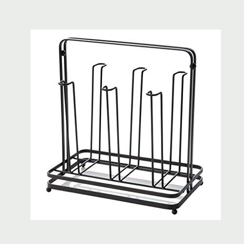 WXP Kitchen furniture - Fashion Creative Simple Cup Rack Maison Cuisine Étagères de rangement Coffee Cups Porte-tétine Metal Iron Art Racks Rack de rangement Rack de verre Cup Black Armoires et arm